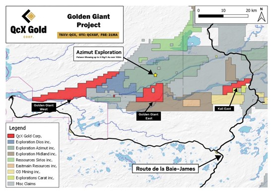 Cannot view this image? Visit: https://qcxgold.com/wp-content/uploads/2021/09/QcX-Gold-Commences-Drilling-at-Golden-Giant-James-Bay-Quebec.jpg
